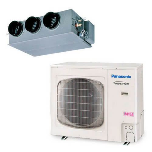 31,200 BTU Single Zone Mini-Split Concealed Duct Heat Pump & Air Conditioner Product Image
