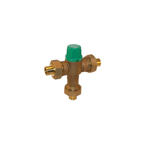 """3/8"""" Lead Free Thermostatic Mixing Valve 95 to 131°F (Compression)"""