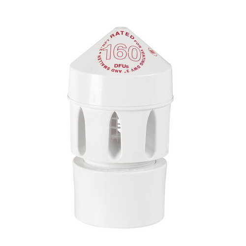 "160 DFU Sure-Vent Air Admittance Valve w/ 2"" x 3"" PVC Adapter"