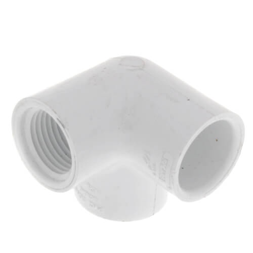 "1"" x 1/2"" PVC Sch. 40 90° Elbow w/ Side Outlet (Socket x FIPT)"