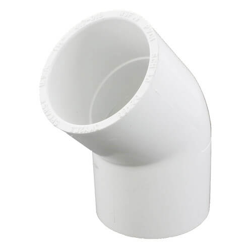 "1-1/2"" PVC Sch. 40 45° Elbow Product Image"