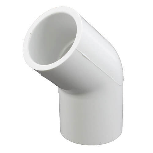 "10"" PVC Sch. 40 45° Elbow (Fabricated)"