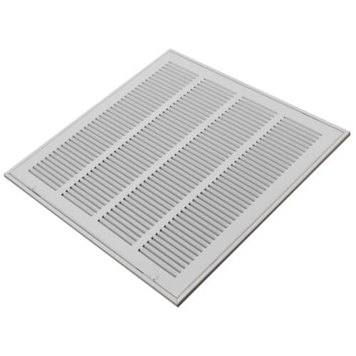 "20"" x 16"" White Sidewall/Ceiling Return Air Filter Grille"