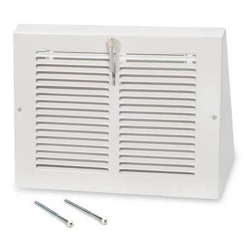 "10"" x 6"" White Baseboard Return Air Grille (658 Series)"