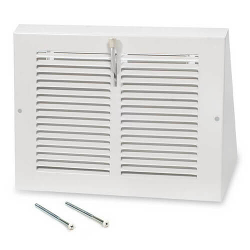 "30"" x 6"" White Baseboard Return Air Grille (657 Series)"