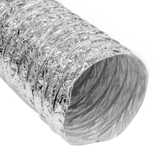 "6"" x 25' F216 Insulated Flex Duct (Silver Jacket)"