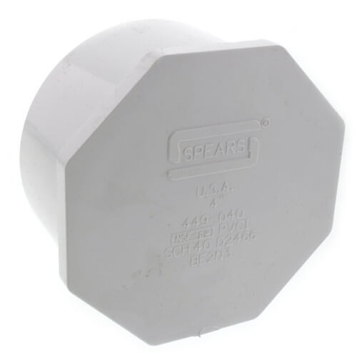 "4"" x 4"" x 1-1/2"" PVC Sch. 40 Threaded Tee (Socket x FIPT)"