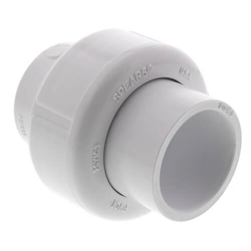 """3/4"""" PVC Sch. 40 Socket Union w/ Buna-N O-ring Product Image"""