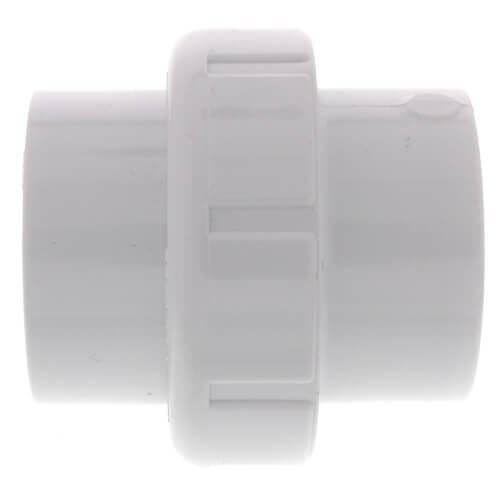 """1-1/2"""" PVC Sch. 40 Socket Union w/ Buna-N O-ring Product Image"""