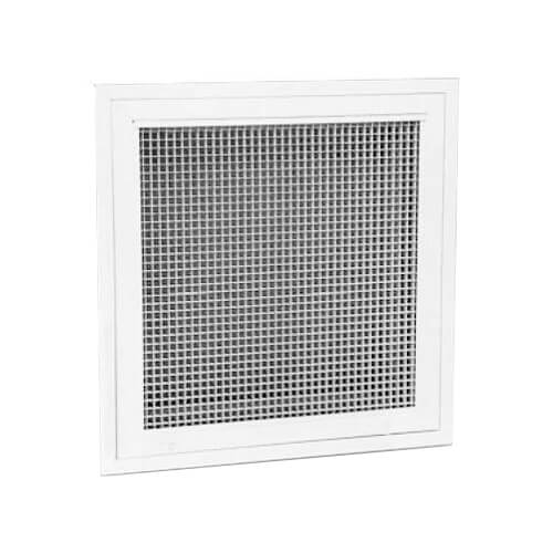 Metal Egg Crate Grille : Hart cooley quot wall opening size