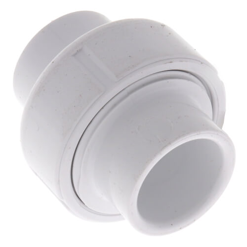 "1/2"" Sch. 40 PVC Socket Union w/ EPDM O-ring"