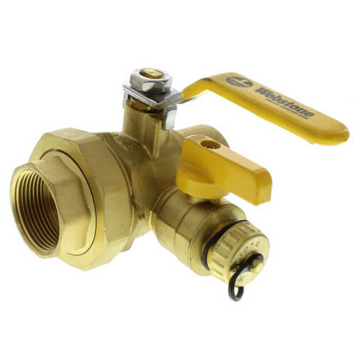 "1-1/4"" Threaded x 1-1/4"" Sweat Pro-Pal Union Ball Valve w/ Hose Drain"