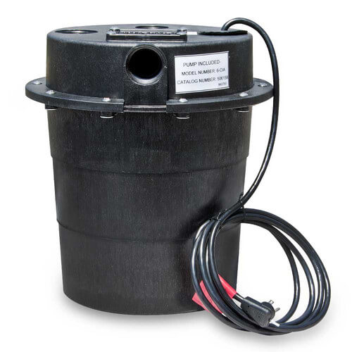 WRS-6-1/3 HP, 45 GPM @ 5' - Submersible Utility Pump, Water Removal System w/ 5 gal. tank & 8ft power cord Product Image