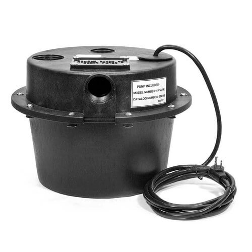 WRSC-6 1/3 HP, 45 GPM @ 5' - Submersible Utility Pump, Water Removal System w/ 3-1/2 gal. tank & 8ft power cord
