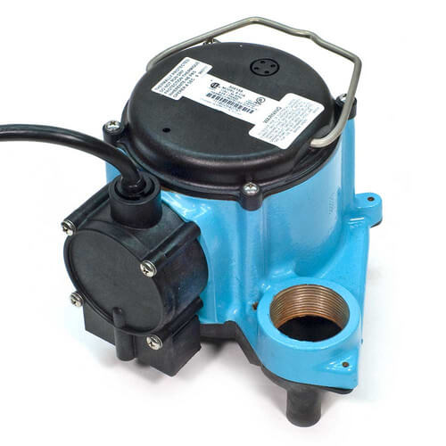 6-CIA, 1/3 HP, 45 GPM - Automatic Submersible Sump Pump, 8ft power cord