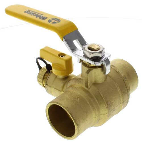 "1-1/2"" Sweat PRO-PAL Ball Valve w/ Drain"