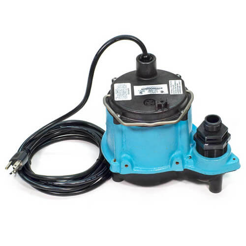 5-ASP-LL 1/6 HP, 1200 GPH - Submersible Utility Pump w/ Piggyback Diaphragm Switch & 18 ft. Power Cord