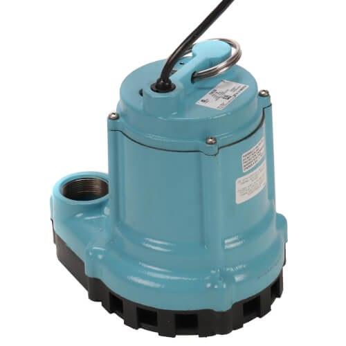 9EN-CIM 4/10 HP, 80 GPM - Manual Submersible Sump Effluent Pump, 30 ft power cord