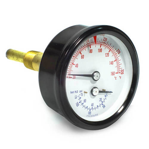 Combination Pressure-Temperature Gauge (Boiler Sizes 85-125)