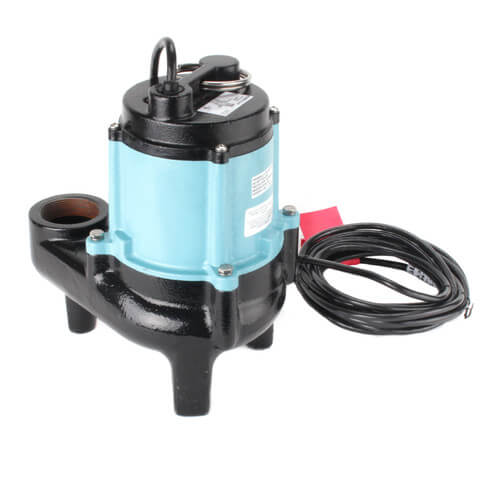 10SN-CIM 1/2 HP, 95 GPM @ 10ft - Submersible Manual Sewage Pump, 20 ft power cord
