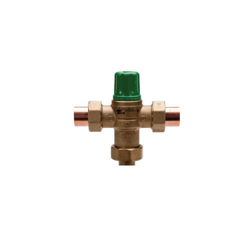 "1/2"" Thermostatic Mixing Valve 95 to 115°F (Union Sweat) Lead Free"