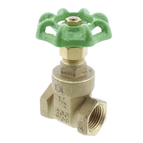 "1/2"" Threaded Gate Valve, Lead Free"