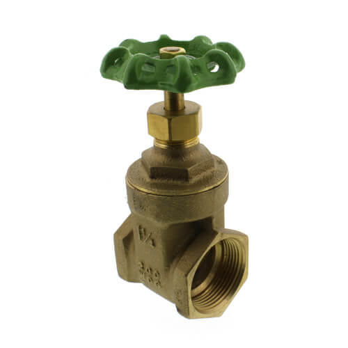 "1-1/4"" Threaded Gate Valve, Lead Free"