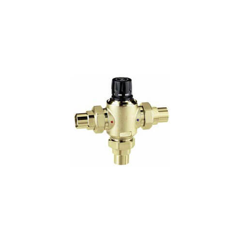 "1-1/4"" Sweat 3-way Thermostatic Mixing Valve (10 Cv)"