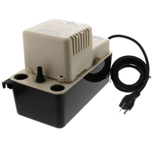 VCMA-20ULST, 80 GPH, 230 V In-Pan Condensate Removal Pump w/ Safety Switch & Tubing Product Image