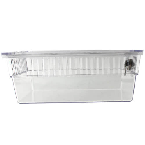 """5-3/4"""" x 3-1/2"""" x 2-3/4"""" Clear Plastic Thermostat Guard with Two Bases"""