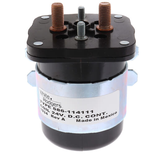 Solenoid, SPNO, 24 VDC Isolated Coil, Normally Open Continuous Contact Rating 200 Amps, Inrush 600 Amps Product Image