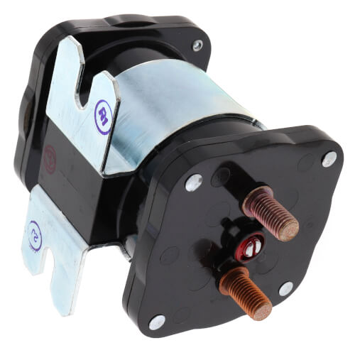 Solenoid, SPNO, 24 VDC Isolated Coil, Normally Open Continuous Contact Rating 200 Amps, Inrush 600 Amps