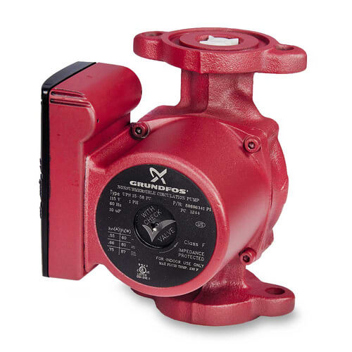 UPS15-58FC GRUNDFOS 3 SPEED BRUTE PUMP WITH CHECK VALVES