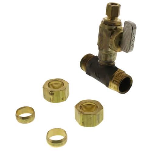 All Copper Universal Water Heater Mixing Valve U Type: Full Slip Valve Tee 5