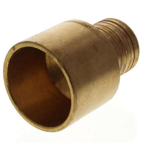 62070 viega 62070 1 1 4 pex press copper pipe adapter for Pex pipe vs copper