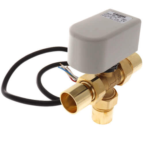 "3/4"" Sweat Three-Way Motorized Ball Zone Bypass Valve"