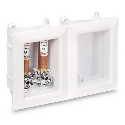 install washing machine outlet box