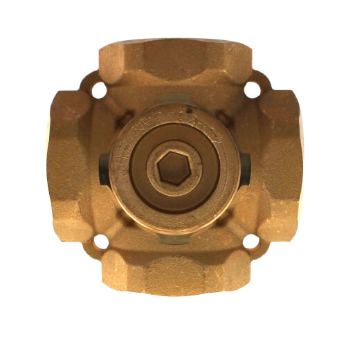 tekmar brass way mixing valve 1 1 4 brass 4 way mixing valve product image