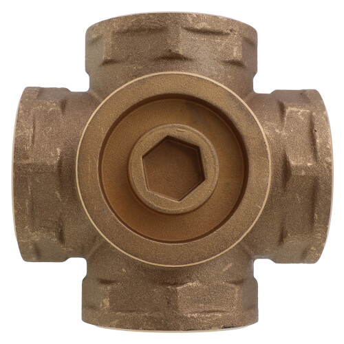 "2"" Brass 4-Way Mixing Valve"