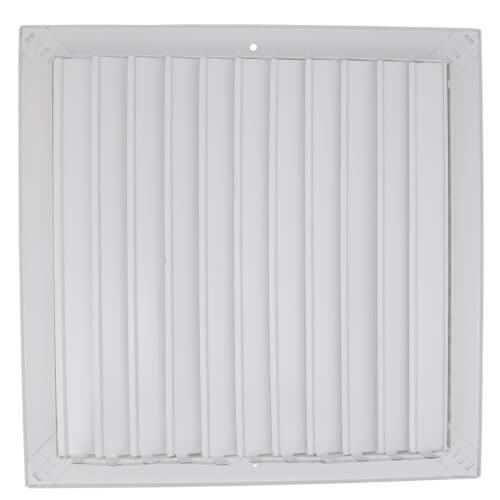 "25"" x 20"" White Sidewall/Ceiling Return Air Filter Grille (673 Series)"