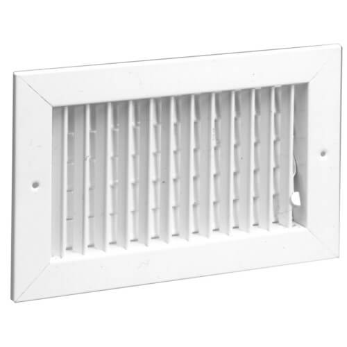 "24"" x 6"" White Commercial Supply Register (821 Series)"