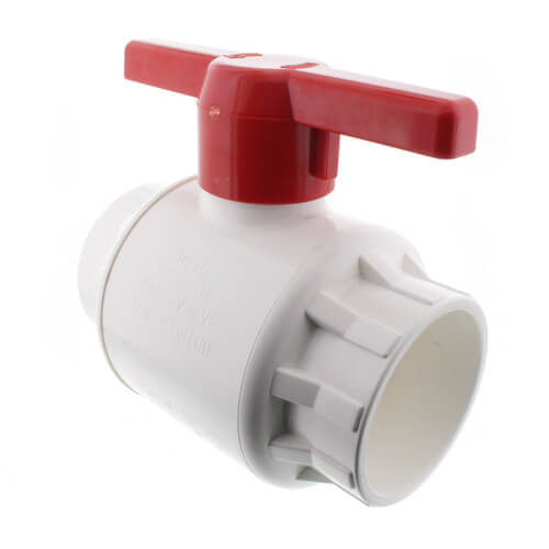 "1-1/2"" 770 PVC Ball Valve - Solvent Ends"
