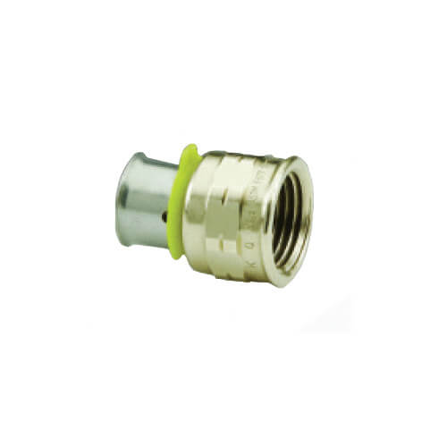 "Bronze 1/2"" PEX Press x 3/4"" F NPT Adapter w/ Attached Sleeve"