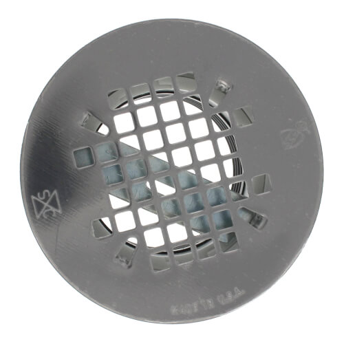 pvc nocaulk shower module drain w snapin stainless steel strainer product