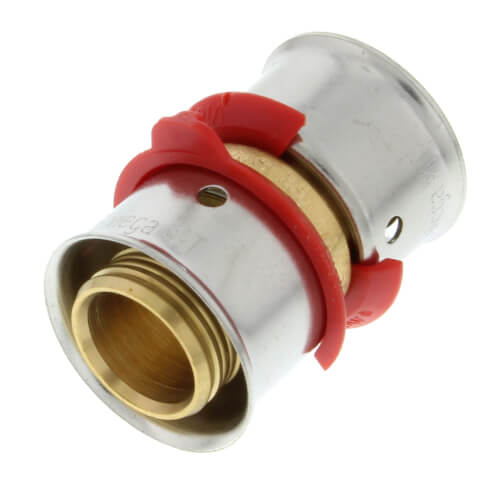 "Bronze 5/8"" PEX Press x 1/2"" M NPT Adapter w/ Attached Sleeve"