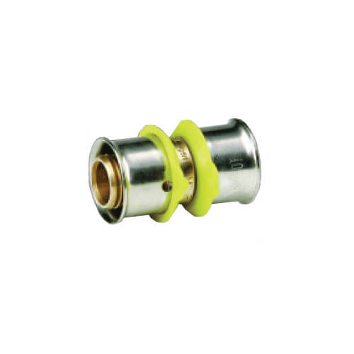 "Bronze 3/4"" x 1"" PEX Press Coupling w/ Attached Sleeve"