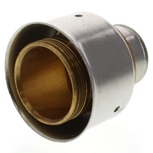 """Bronze 3/4"""" x 1-1/2"""" PEX Press Coupling w/ Attached Sleeve Product Image"""