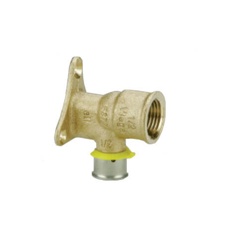 "Zero Lead Bronze 3/4"" PEX Press Elbow w/ Attached Sleeve"