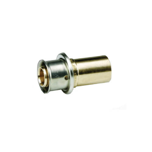 "3/4"" PEX Press x 3/4"" Copper Fitting Adapter w/ Attached Sleeve"