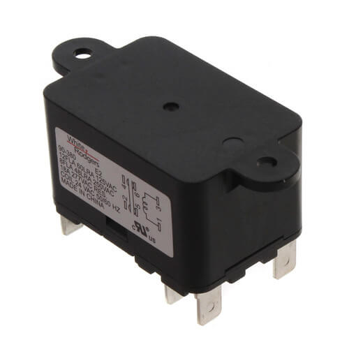 Fan Relay, Type 184, 24 VAC Coil, 50/60 Hz, SPNO/SPNC. Coil Data: 77 Ohms DC Resistance, 125 mA